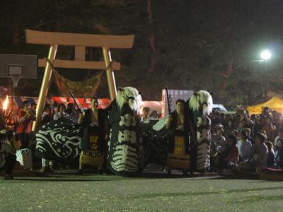 【第28回ながい黒獅子まつり−白山神社・皇大神社(小出)−】:画像