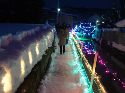 【冬まち歩き2018〜第15回ながい雪灯り回廊まつり】/
