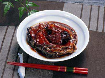 "[to feast of tray ""carp fish and vegetables boiled in thick soy with sugar""] : Image"