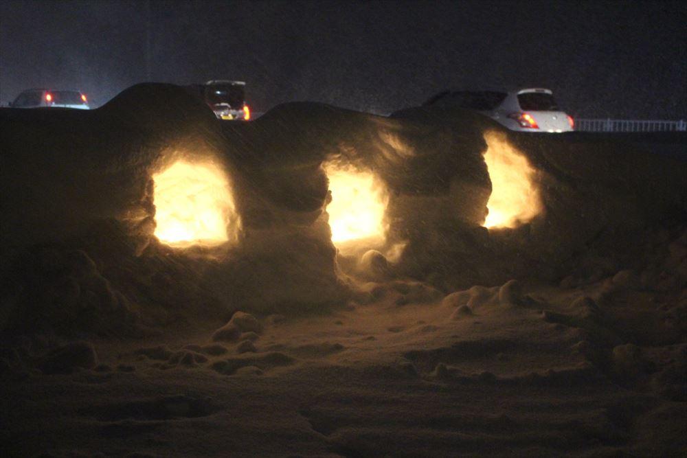 雪灯籠交通安全祈願フォトコンテスト
