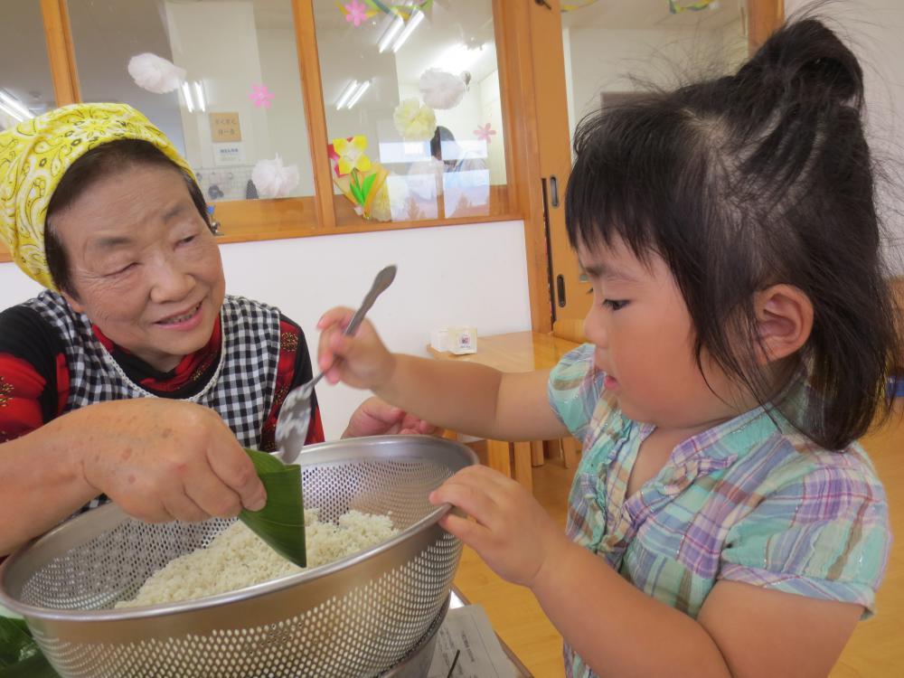 笹巻きおいしい~笹巻き作り乳児編~