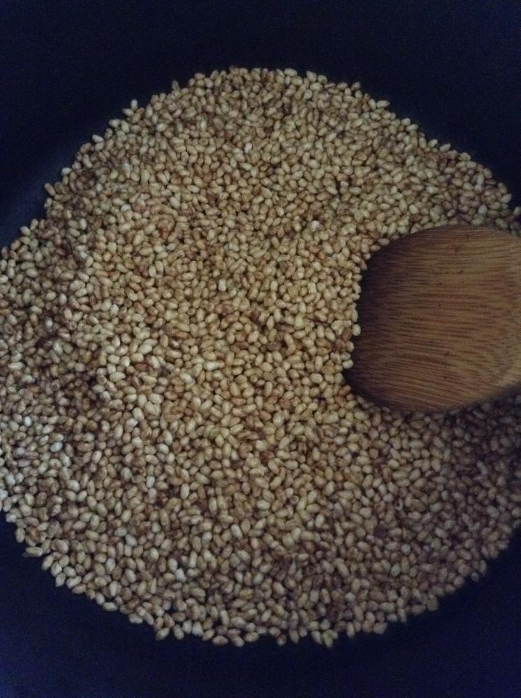 玄米粉つくりに挑戦