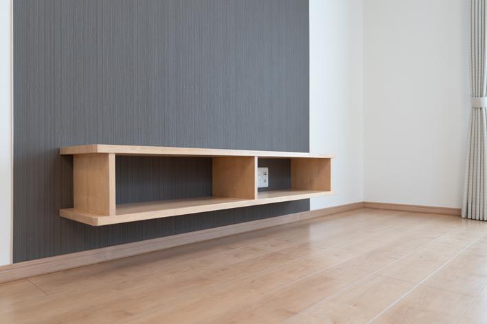 造りつけシンプルテレビボード