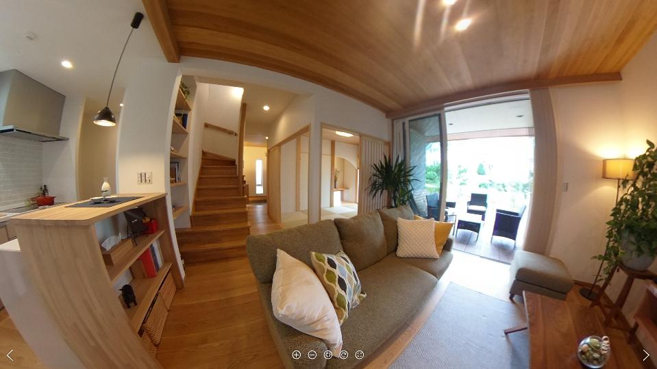 錦ケ丘モデルハウスをTHETA(シータ)で撮影してきました(^^):画像