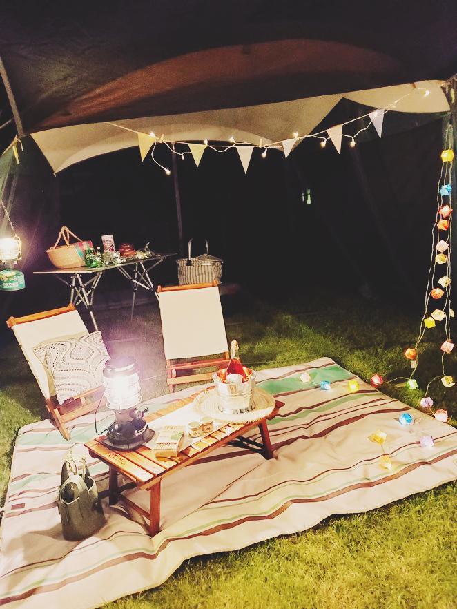 お庭でおうちキャンプ with Dog  ♪