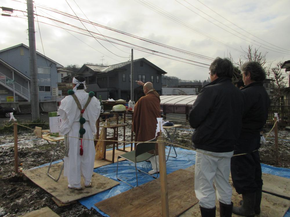 「私のしろい家」飯田。地鎮祭!