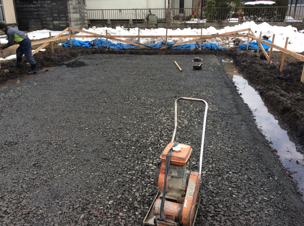 「私のしろい家」飯塚。基礎工事進行中!