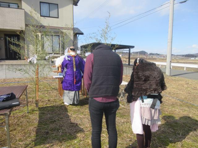 「私のしろい家」村山。地鎮祭無事終了!
