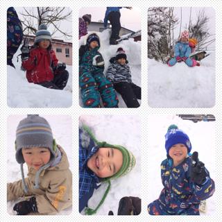 2014/01/17 18:26/雪遊び 〜 年長組 〜