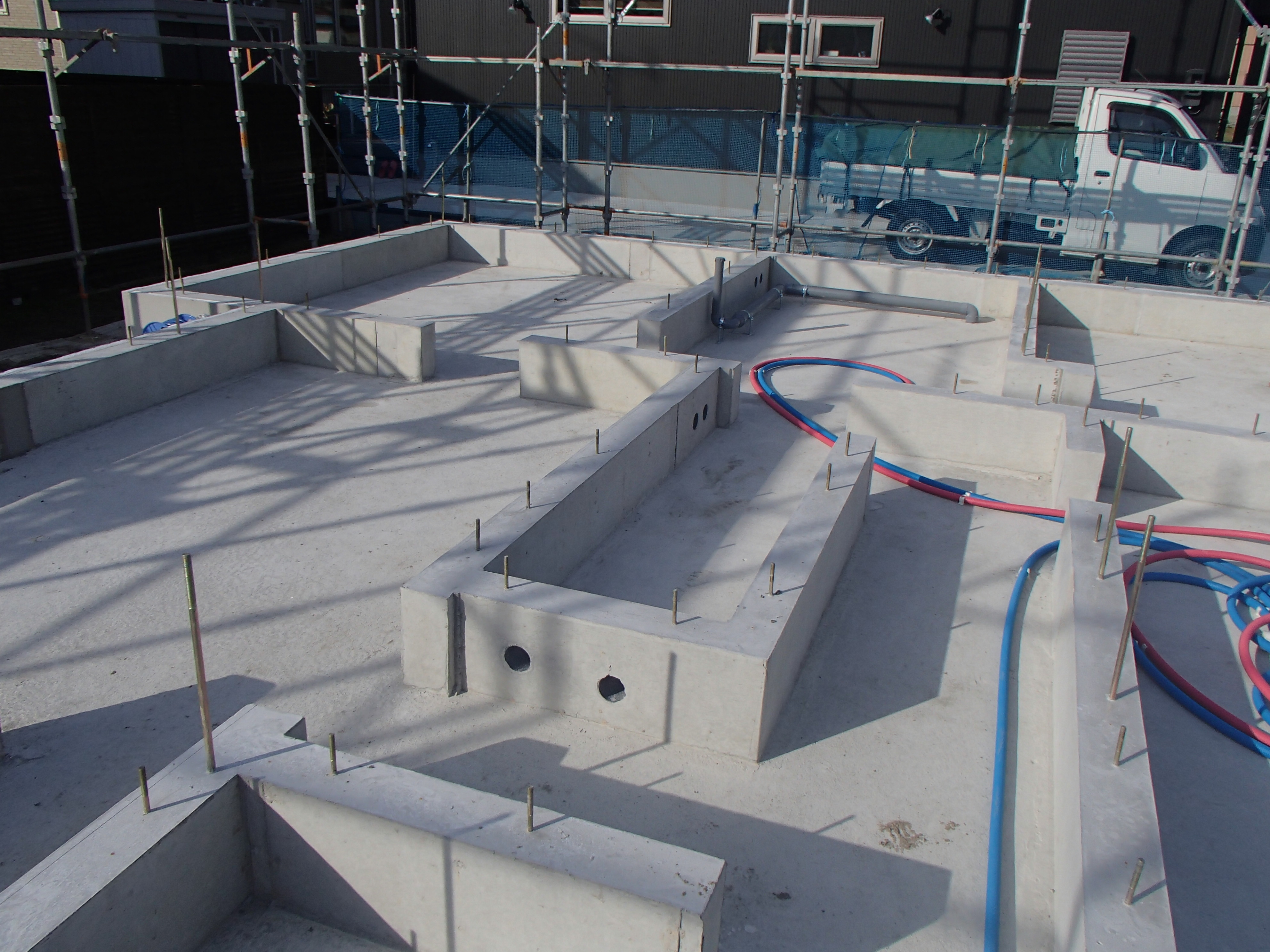 仙台市宮城野区S様基礎完了、土台敷き:画像