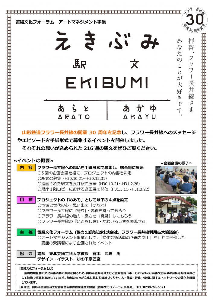 「駅文(えきぶみ)」巡回展と動画配信のお知らせ:画像