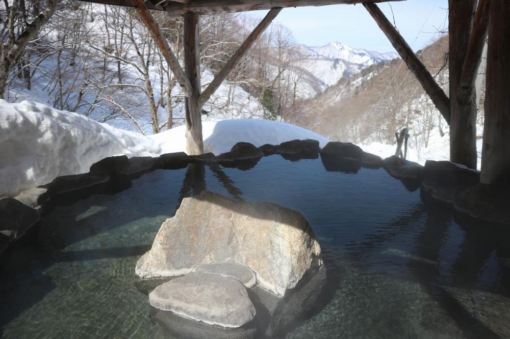 3月11日現在 雪見露天風呂は絶景中(^_-)-☆:画像