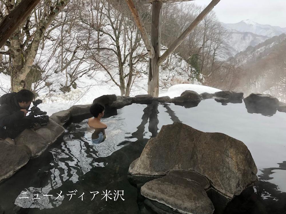 【雪見露天風呂】NCVで年明け放映! NCV=米沢ケーブルテレビ:画像