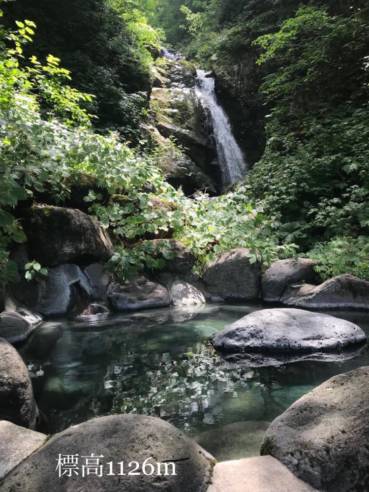 お盆です。 表高1126mの滝見露天風呂から目線(^_-)-☆:画像