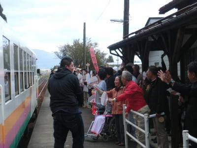 長井線祭りin羽前成田駅①