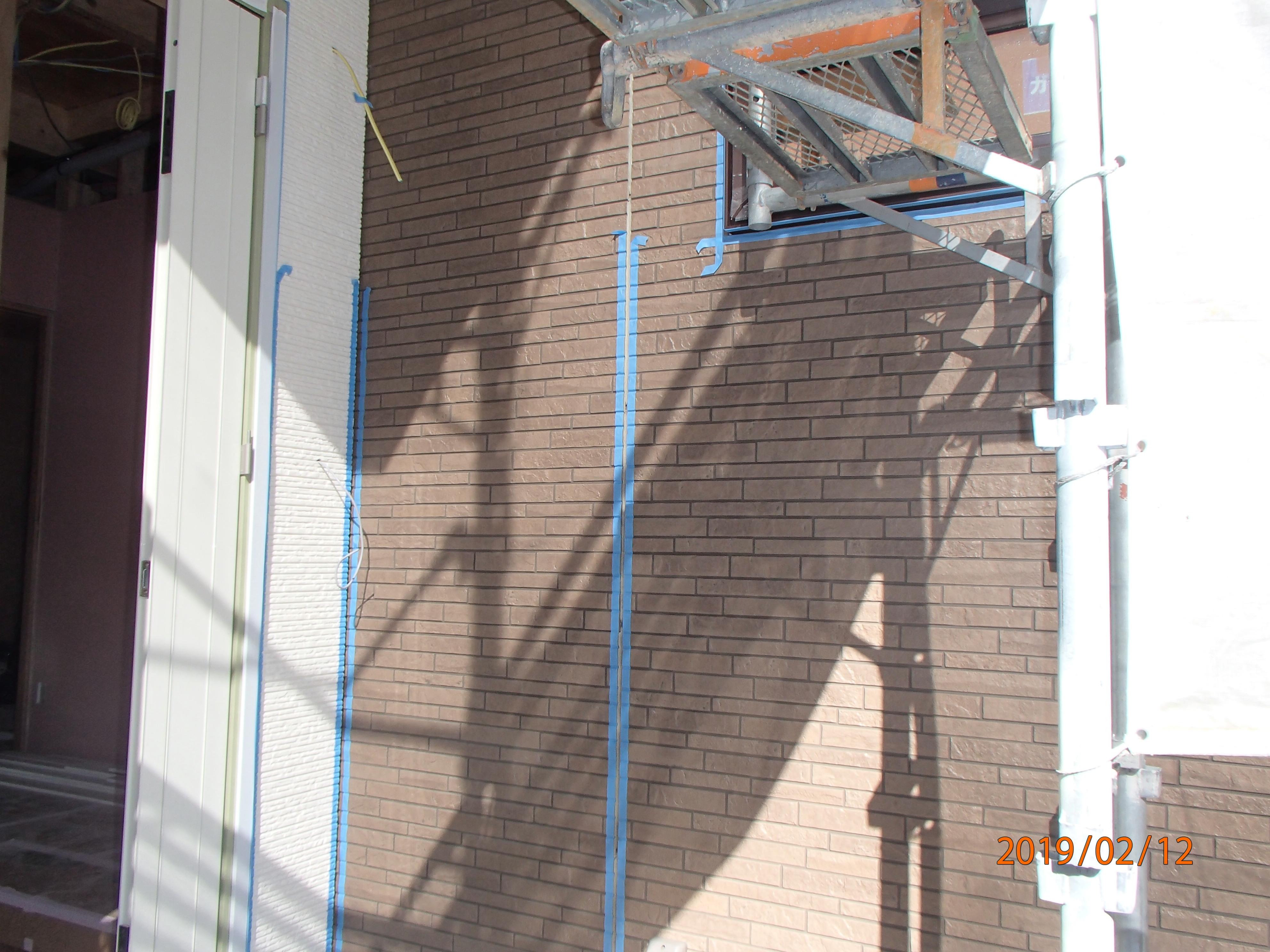 名取市T様邸内部造作、外壁シーリング工事