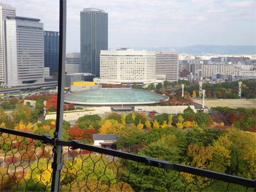 大阪城ホールがみえます♪