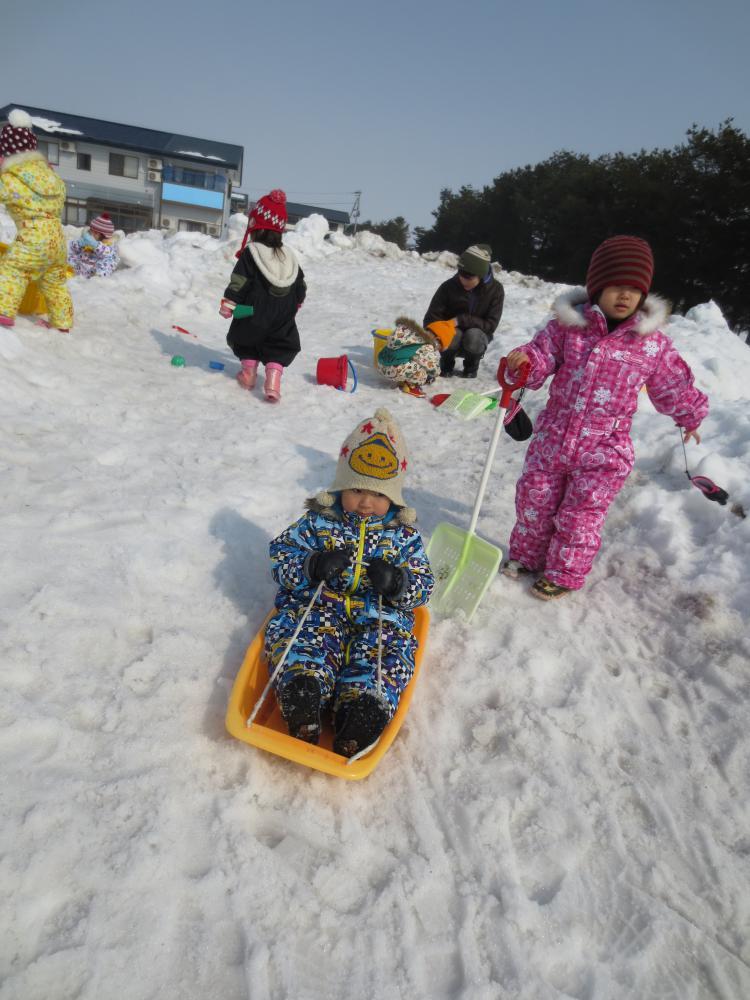 楽しい! 雪あそび
