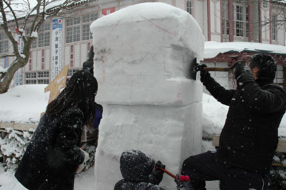 雪灯篭まつりが今年もやってくる~1年3組雪灯篭つくり~vol.2