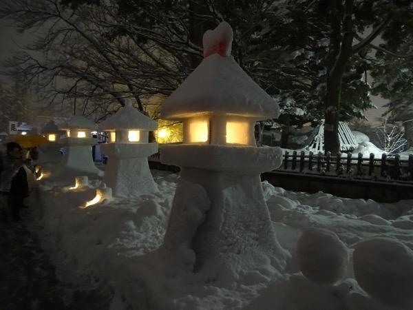 米沢上杉雪灯篭まつり開催