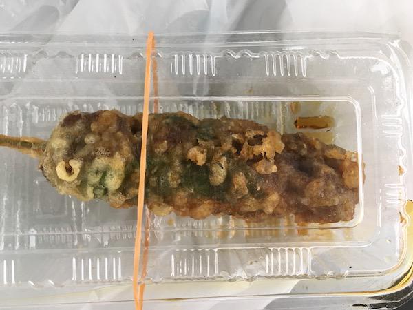 Y-1グランプリ受賞した「米沢牛串天ぷら」