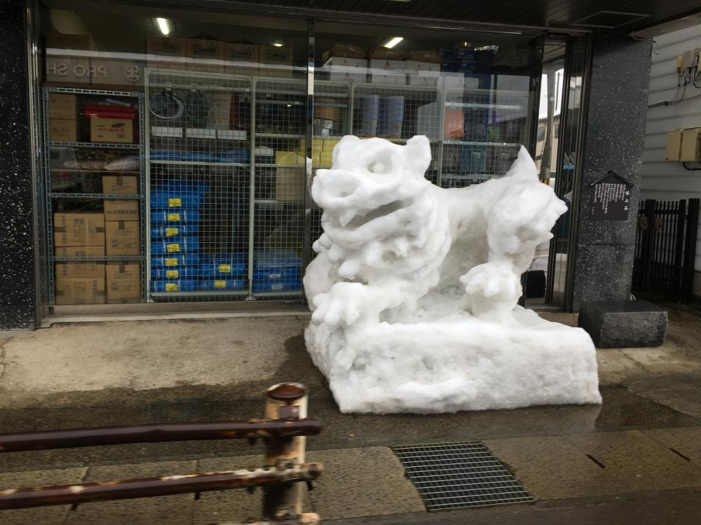 干支の雪像