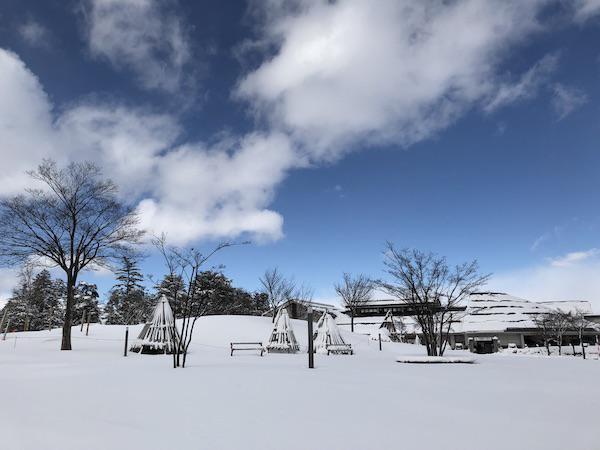 「上杉雪灯篭まつり」の前々日