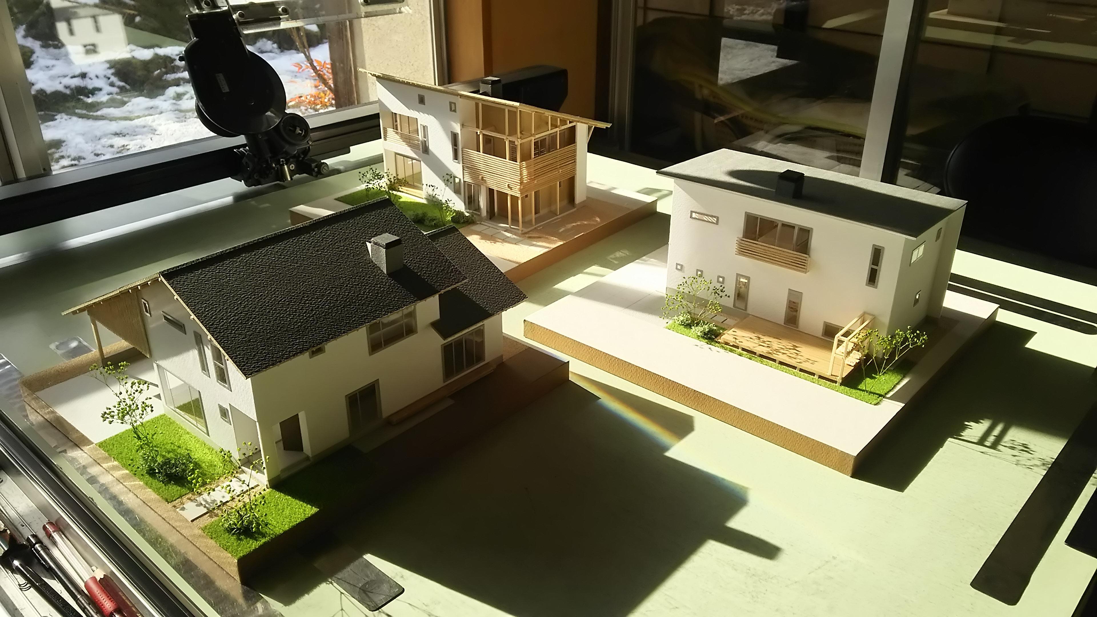 3タイプのモデルプラン模型