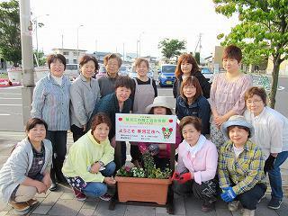 寒河江駅前 花でおもてなし事業:画像