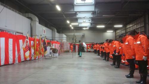消防団の仕事始め