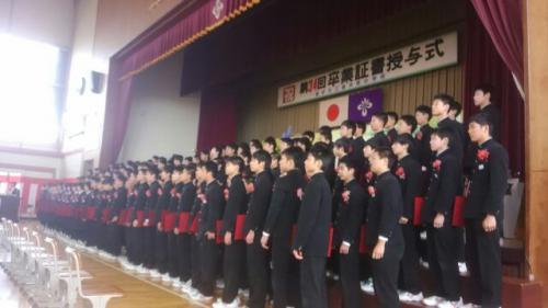 今日は長井南中の卒業式・3月下期の予定