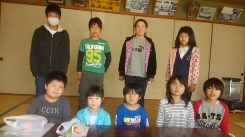 上郷少年防火クラブの歓送迎会