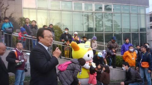 長井の雪を大田区の子供たちへ