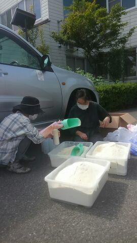 リサイクル石鹸・がんばってます。