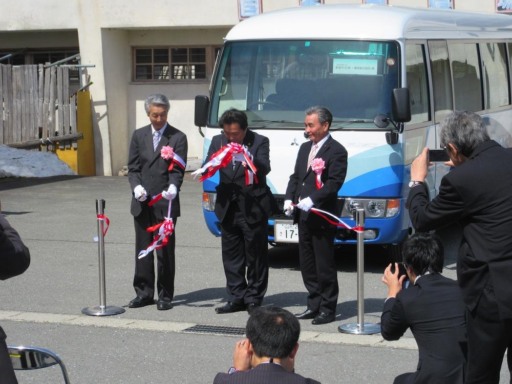 新しいバスで運行・西根バス