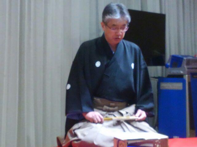 佐藤繁さんの受賞祝へ