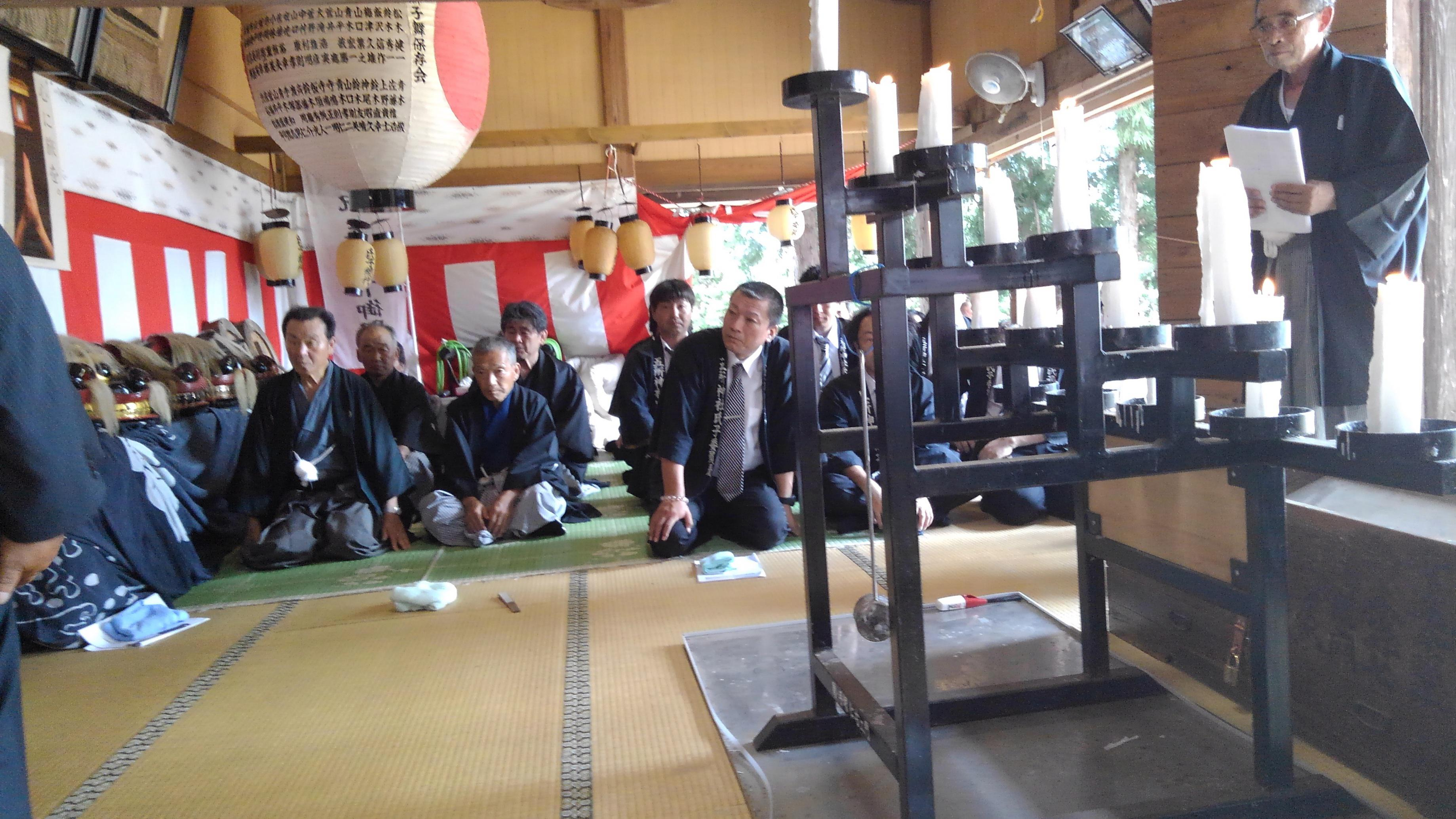 五所神社例祭へ