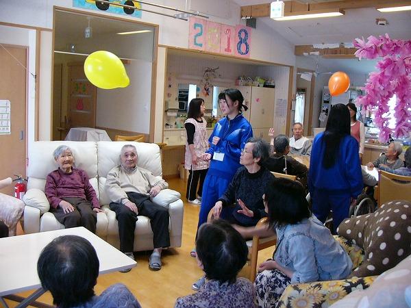 寒河江市ボランティアサークル「チェリーズ」の「グループホームあしたば」施設訪問