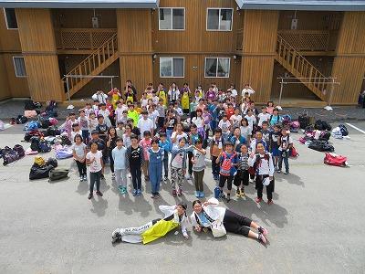 上山市高校生ボランティア「あすなろ」の「第34回わんぱく交歓交流会」
