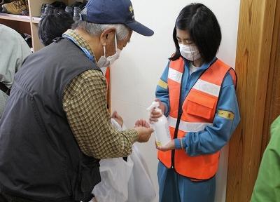 「くじら」の2020防災訓練ボランティア:画像