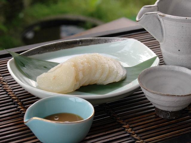 清流庵の特製「刺身こんにゃく」:画像