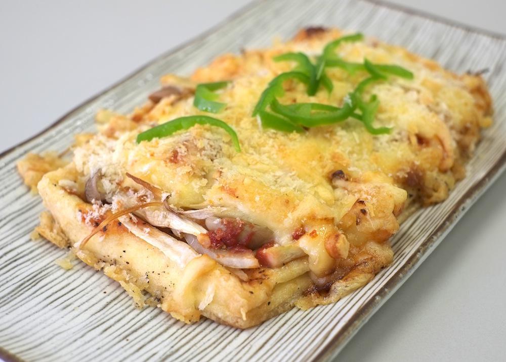 新豆祭のヘルシー油揚げピザ:画像