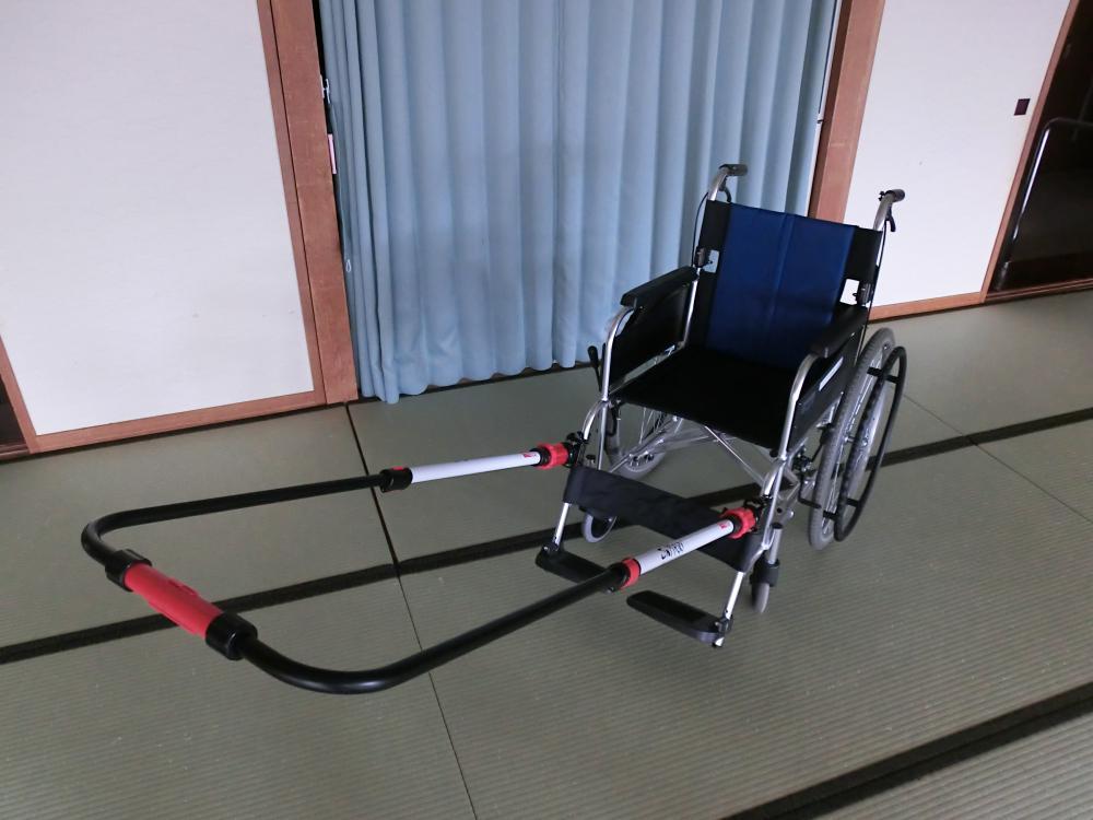 JINRIKI(けん引式車いす補助装置)を無料貸し出しいたします:画像
