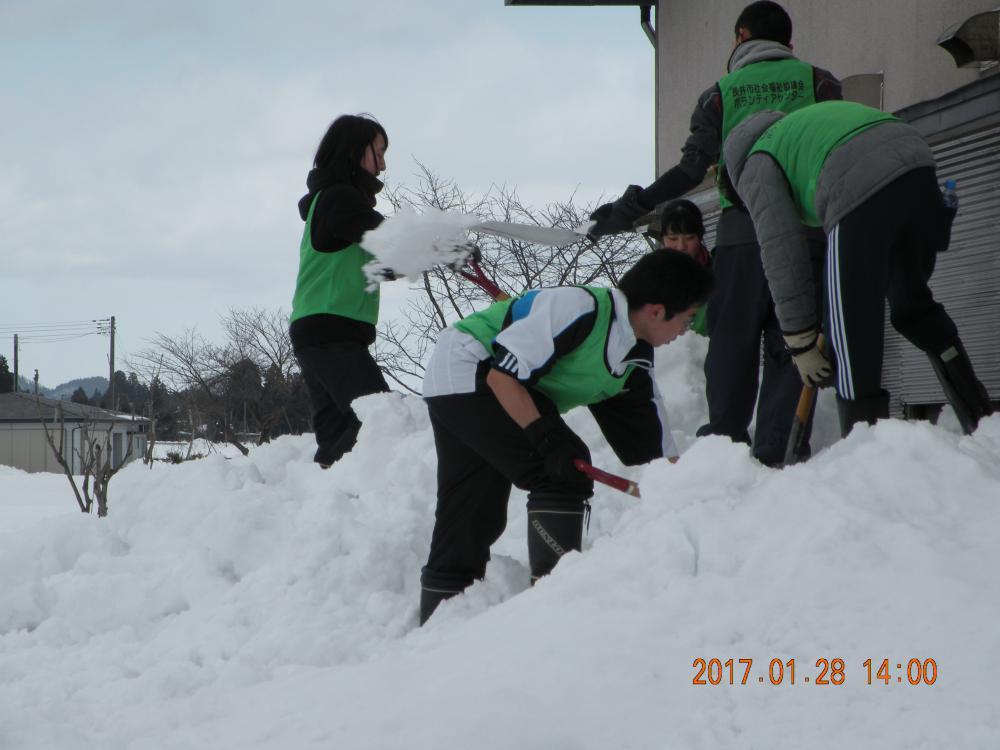 「雪かきボランティア募集」と「除雪機貸し出し」のお知らせ:画像