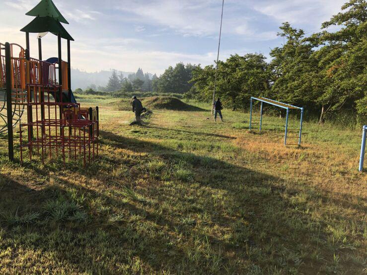 「燦燦(さんさん)会」さん 草刈りボランティアありがとうございました。:画像