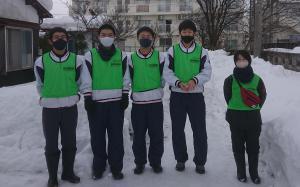 長井高校様 除雪ボランティアお疲れさまでした。/