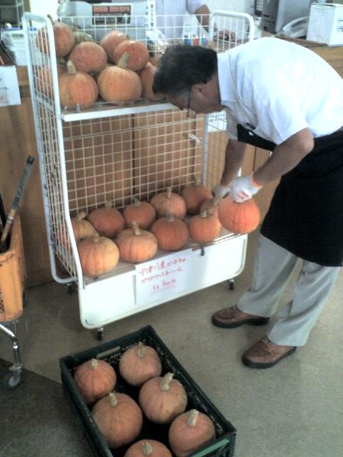名物 宇津沢かぼちゃの季節です。:画像