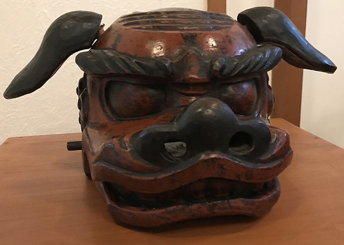 宮内熊野大社で獅子頭展示