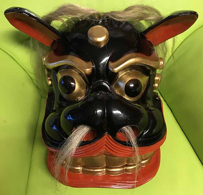 小松皇大神社の獅子頭