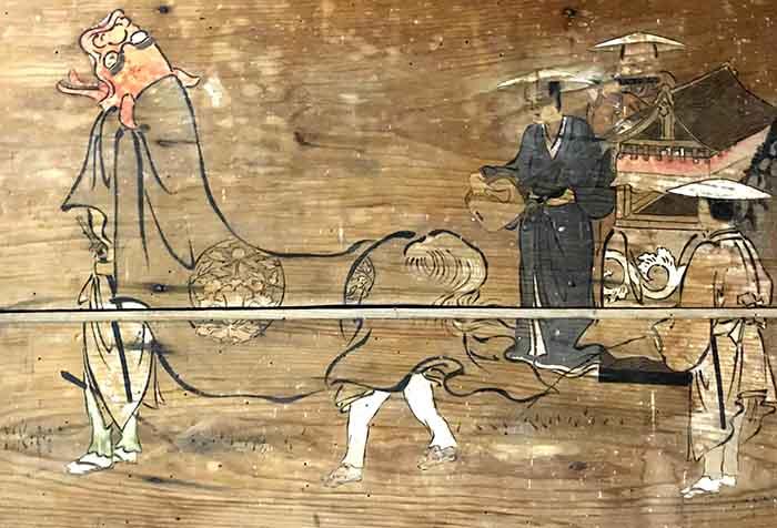 西大塚皇大神社の神楽獅子絵馬